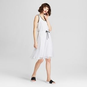Hunter for Target White Flowy Mesh Dress